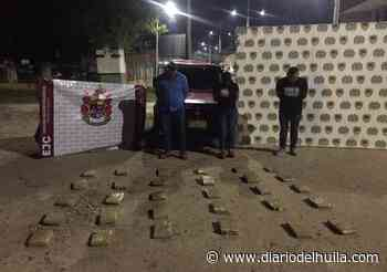 Tres capturados con 31 kilos de marihuana en la vía Pitalito Mocoa - Diario del Huila
