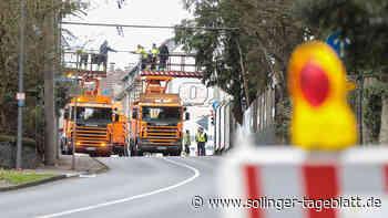 Sturmschäden werden repariert: Weyersberger Straße gesperrt