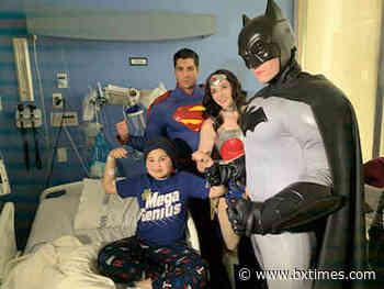 Superheroes visit Children's Hospital at Montefiore patients