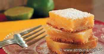 Barrinha cremosa de limão; uma delícia diferente - A Tribuna