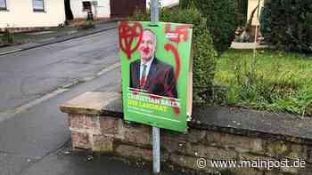 Unbekannte besprühen Wahlplakate der Grünen in Rodenbach mit Hakenkreuzen - Main-Post