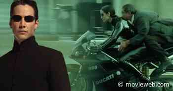 The Matrix 4 Set Video Puts Keanu Reeves and Carrie-Anne Moss on a Motorcycle