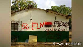 ELN estuvo en Carraipía, municipio de Maicao y pintó letreros en una escuela - El Heraldo (Colombia)