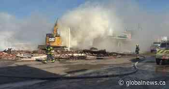 Emergency crews respond to fire at Pincher Creek hotel - Global News