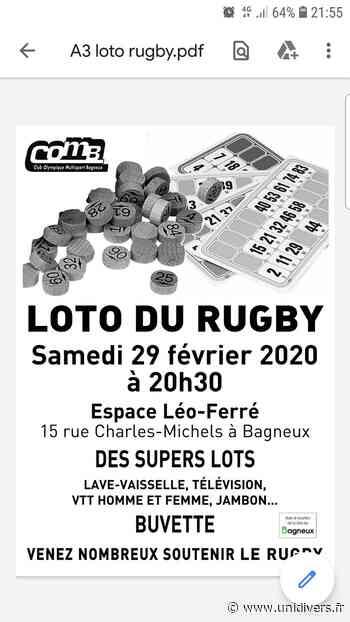 Loto du rugby Salle Leo ferre Bagneux 29 février 2020 - Unidivers