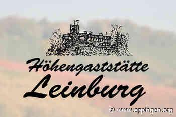 Bürgerliche Spezialitäten auf der Höhengaststätte Leinburg - Eppingen.org