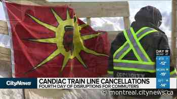 Candiac line disrupted again by pipeline protest blockade - CityNews Montreal