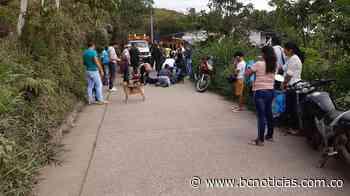 Dos motocicletas se estrellaron en Marquetalia y dejó un lesionado - BC Noticias