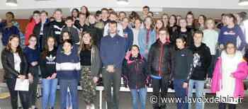 Hauteville-Lompnes - Christophe Lemaître est venu échanger avec les collégiens sur le harcèlement - La Voix de l'Ain