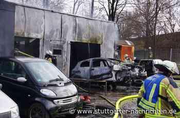 Feuer in Freiberg am Neckar - Werkstatt brennt komplett aus - Stuttgarter Nachrichten
