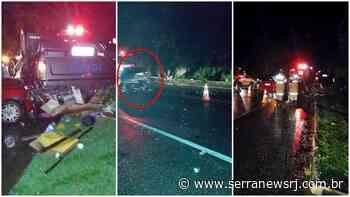 Acidente envolve três veículos na RJ-116, em Cachoeiras de Macacu - Serra News