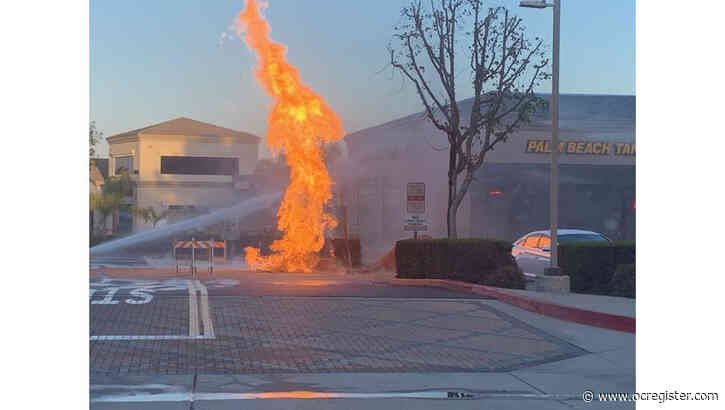 Natural gas fire put out in Aliso Viejo
