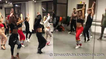 Watch: Nora Fatehi burns the dance floor with her signature belly moves