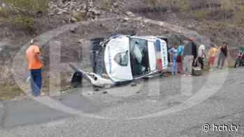 ¡Varios heridos! deja accidente vial de una patrulla en San Jerónimo, Comayagua - hch.tv
