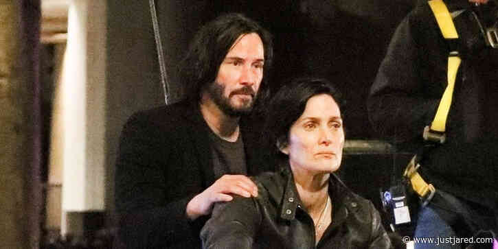 Keanu Reeves & Carrie-Anne Moss Film a Motorcycle Scene for 'The Matrix 4'!