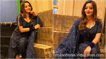 Bhojpuri diva Monalisa rocks a blue patiala suit as she gears up for the second season of 'Nazar'