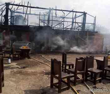 Incendio consumió restaurante en Los Manguitos, Planeta Rica - LA RAZÓN.CO