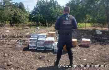 Recupera SSP mercancía con reporte de robo, en Apatzingan 10:38 Elementos de la Policía Michoacán - Quadratín Michoacán