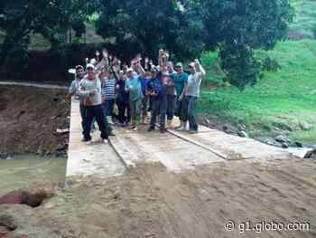 Trabalhadores rurais de Alfredo Chaves, ES, se unem para reconstruir pontes - G1