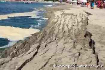 Se hunde playa en Puerto Escondido, turistas y locatarios evacúan de emergencia - Publimetro México