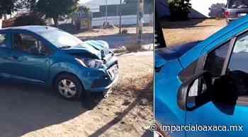 Personas lesionadas tras un choque en el crucero Trinidad de Viguera - El Imparcial de Oaxaca