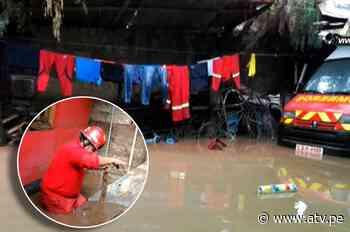 Cusco: Compañía de Bomberos de Pisac colapsó por desborde de río - ATV.pe