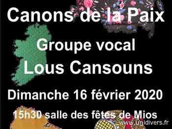 Concert Canons de la paix Mios, 16 février 2020 - Unidivers