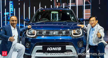 Maruti launches BS-VI compliant Ignis at starting price of Rs 4.89 lakh - Economic Times