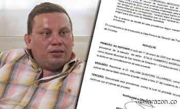 Vía tutela, alcalde de San Andrés de Sotavento busca retornar al cargo - LA RAZÓN.CO