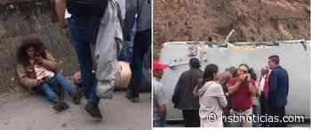 Terrible accidente en la vía Sesquilé - Tunja, en la zona conocida como La curva del tigre | HSB Noticias - HSB Noticias