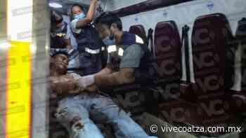 Sujeto termina lesionado durante una riña, en pleno centro de Cosamaloapan - VIVE COATZA