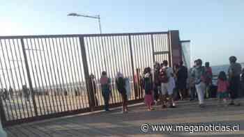 Carabinero resulta herido tras enfrentamientos con comerciantes ambulantes del Muelle Vergara - Meganoticias