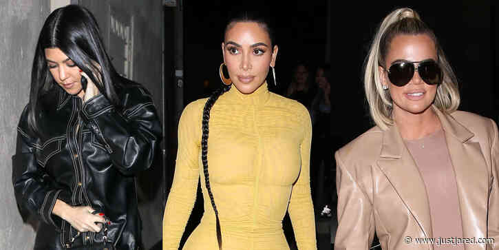 Kim Kardashian Grabs Dinner With Khloe & Kourtney After Filming 'My Next Guest' For Netflix