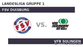 FSV Duisburg gegen VfB Solingen: Heimmacht FSV Duisburg - t-online.de