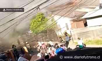 Incendio afectó al menos 5 viviendas en Valdivia - Diario Futrono