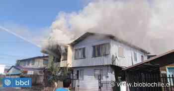 Dos viviendas resultaron afectadas por incendio en Valdivia: se debería a inflamación de calefont - BioBioChile