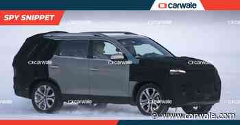 Mahindra Alturas G4 facelift (Ssangyong Rexton) spied testing in the snow - CarWale