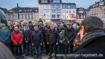Nach Terror in Hanau: Rund 150 Solinger gedenken der Opfer