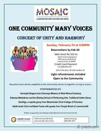 One Community Many Voices - Concert of Harmony and Unity - Patch.com