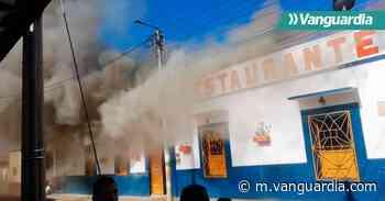 Emblemático restaurante de Zapatoca fue consumido por un incendio - Vanguardia
