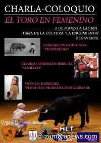 """La Casa de la Cultura de Benavente acoge el coloquio """"El toro en femenino"""" - Zamora News"""