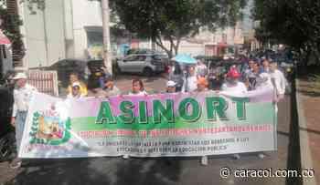Magisterio en Norte de Santander marcha en el paro - Caracol Radio