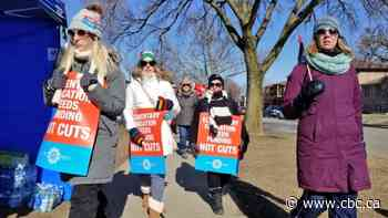 Thousands of Windsor-Essex education workers hold walkout on province-wide, joint strike day