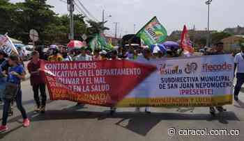 Sindicato de educadores de Bolívar cumplió y se movilizó en Paro Nacional - Caracol Radio