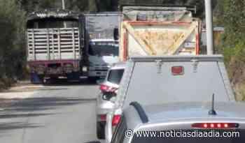 Protestas bloquen vía entre Tabio y Cajicá,... - Noticias Día a Día