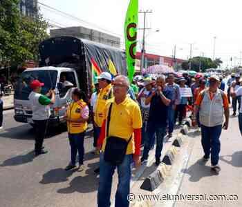 Así transcurrió la marcha de maestros en Cartagena - El Universal - Colombia