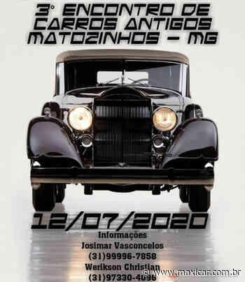 3º Encontro de Carros Antigos em Matozinhos, MG • 12/07/2020 - Portal Maxicar de Veículos Antigos