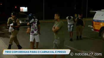 Polícia prende trio com drogas em Pedro Leopoldo (MG) - R7