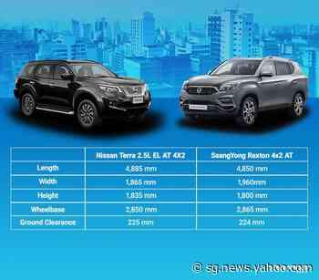 Car Comparison: Nissan Terra vs. SsangYong Rexton - Yahoo Singapore News