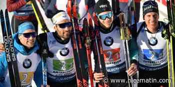 Biathlon: 19 ans après, la France sacrée championne du monde en relais masculin